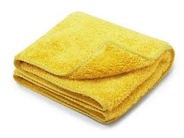 Ręcznik z mikrofibry żółty 30x60 cm