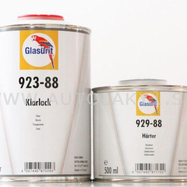 Lakier Bezbarwny GLASURIT 923-88 1L + 929-88 0,5L